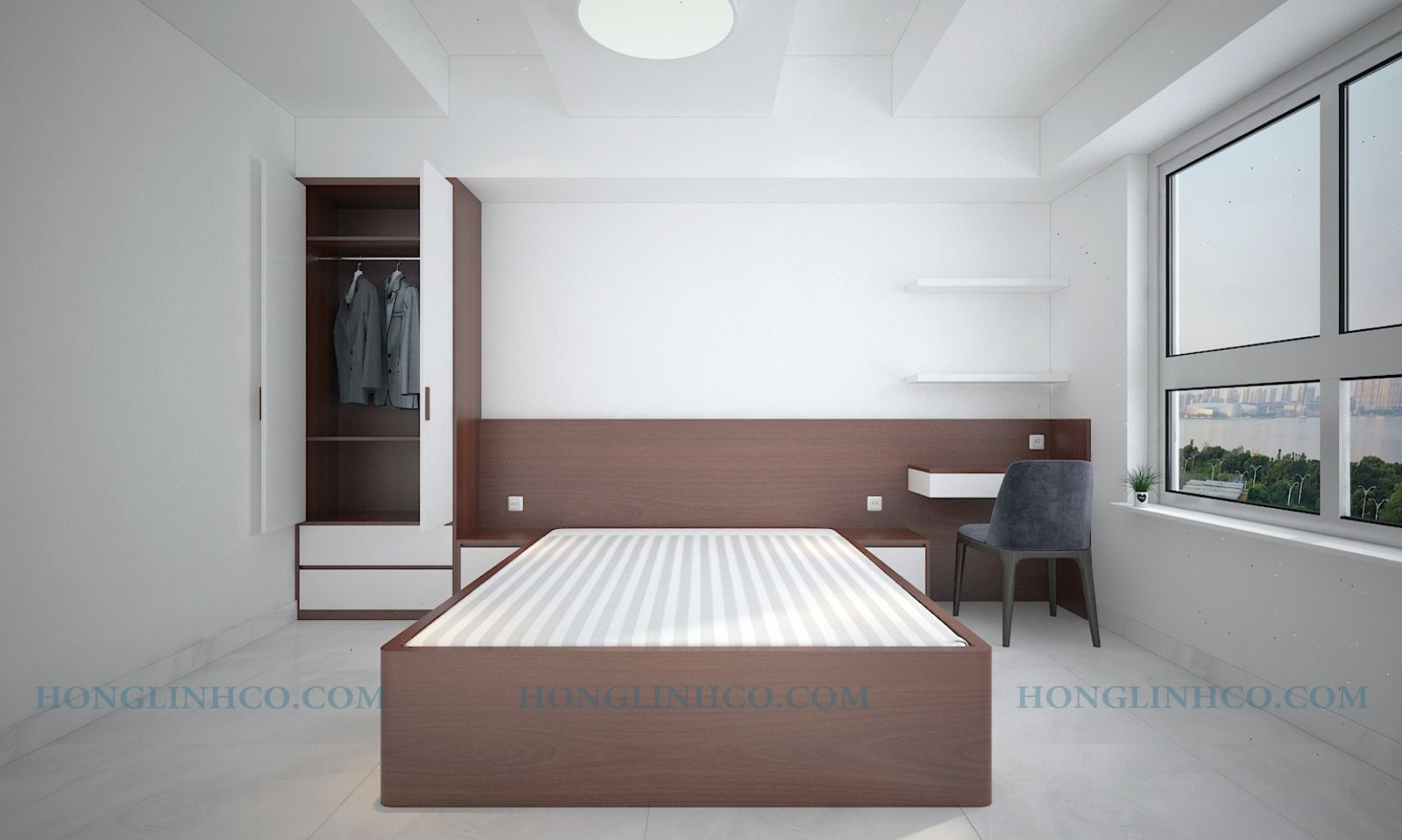 Căn hộ 3 phòng ngủ DRAGON HILL