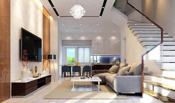 Thiết kế hoàn thiện nhà phố chị Hòa, Quận Bình Thạnh, HCM