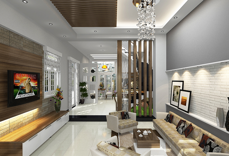 Thiết kế hoàn thiện nhà phố anh Cư, quận 8, HCM
