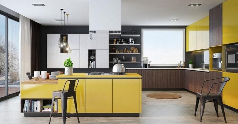 Kitchen space interior