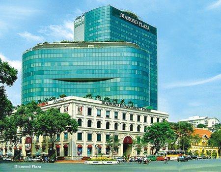 Thi công phòng VIP tầng 3 thuộc trung tâm thương mại Diamond Plaza